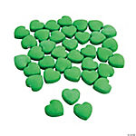 Green Candy Hearts