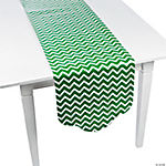 Green Chevron & Polka Dot Table Runner
