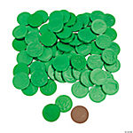 Green Chocolate Coins