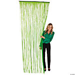 Green Fringe Door Curtain