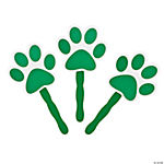 Green Paw-Shaped Fans