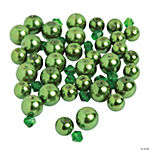 Green Pearl & Bicone Crystal Bead Mix