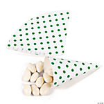 Green Polka Dot Favor Cones