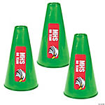 Green Team Spirit Custom Photo Megaphones
