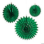 Green Tissue Hanging Fans