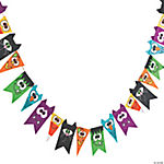 Halloween Character Layered Pennant Banner