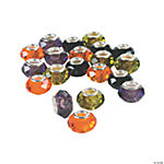 Halloween Faceted Large Hole Beads - 14mm