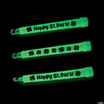 """Happy St. Pat's"" Printed Glow Sticks"