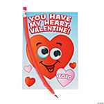 Heart Valentine Cards with Bendable Pencil