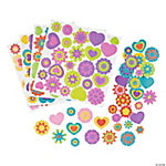 Hearts & Flowers Self-Adhesive Shapes