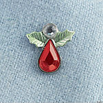 Holly Angel Rhinestone Pins