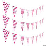 Hot Pink Chevron Pennant Banner