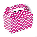 Hot Pink Chevron Treat Boxes