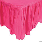 Hot Pink Pleated Table Skirt