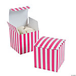 Hot Pink Striped Gift Boxes