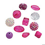 Hot Pink Summer Bead Mix - 10mm - 20mm