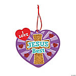 I Love Jesus Best Ornament Craft Kit