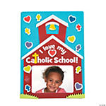 I Love My Catholic School Picture Frame Magnet Craft Kit