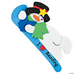 I Love Reading Snowman Bookmark Craft Kit