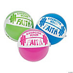 Inflatable Exercise Your Faith Mini Beach Balls