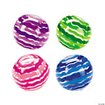 Inflatable Striped Beach Balls