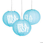 It's a Boy Paper Lanterns