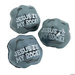 """Jesus Is My Rock"" Stress Toys"