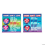 Jesus Loves You & Me Buttons with Card
