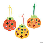 Jeweled Pumpkin Ornament Craft Kit