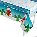 Joyful Snowman Tablecloth