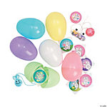 Jumbo Toy-Filled Pastel Easter Eggs
