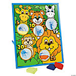 Jungle Animal Character Bean Bag Toss Game