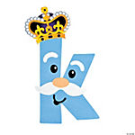 """K Is For King"" Lowercase Letter K Craft Kit"