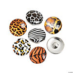 Large Animal Print Snap Beads - 17mm