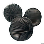 Large Black Party Lanterns