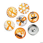 Large Orange Awareness Ribbon Snap Beads