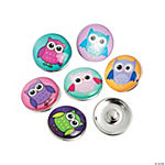 Large Owl Snap Beads - 17mm