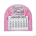 2016 Large Print Pink Ribbon Faith Calendar Magnets