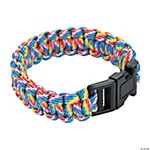 Large Rainbow Paracord Bracelets