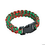 Large Red & Green Paracord Bracelets