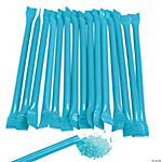 Light Blue Candy-Filled Straws