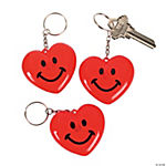 Light-Up Heart Key Chains