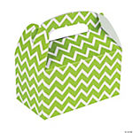 Lime Chevron Treat Boxes