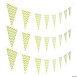 Lime Green Chevron Pennant Banner