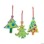 Magic Color Scratch Green Christmas Tree Ornaments