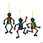 Magic Color Scratch Skeleton Ornaments