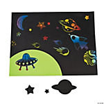 Magic Color Scratch Space Stickers
