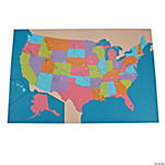 Magnetic Dry Erase United States Map