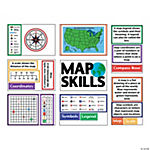 Map Skills  Bulletin Board Set