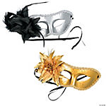 Mardi Gras Masks with Flower